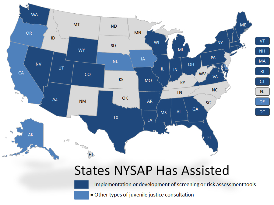 States NYSAP has Assisted